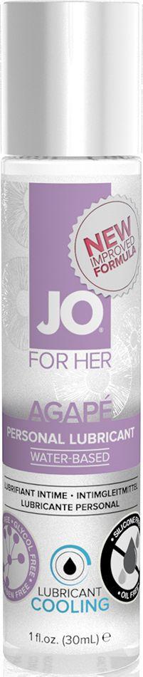 System JO Персональный любрикант на водной основе для женщин JO Agape Lubricant Cooling, 30 мл - Товары для гигиены