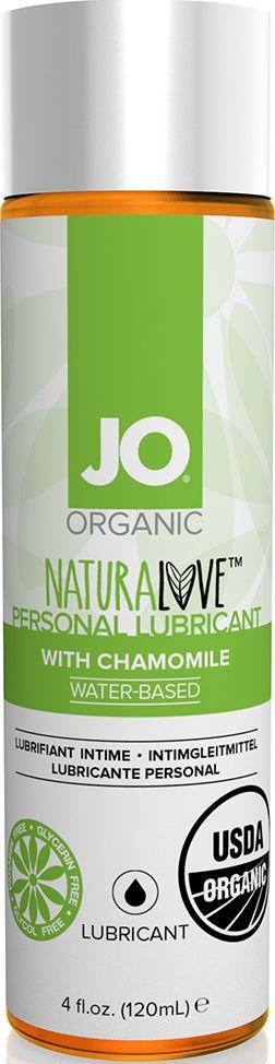 System JO Персональный любрикант на водной основе с экстрактом ромашки JO Naturalove Original With Camomile, 120 мл - Товары для гигиены