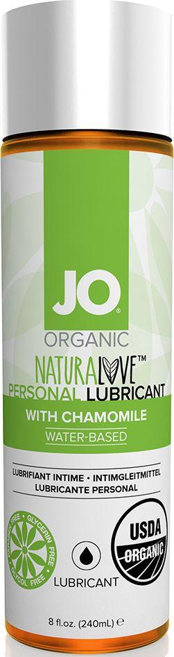System JO Персональный любрикант на водной основе с экстрактом ромашки JO Naturalove Original, 240 мл - Товары для гигиены
