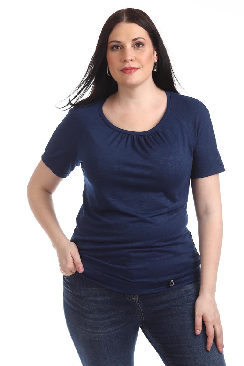 Блузка женская Averi, цвет: синий. 1313_025. Размер 64 (68) блузка женская averi цвет зеленый 1430 размер 64 68