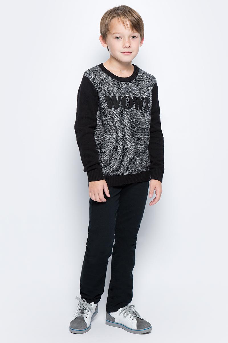 Брюки для мальчика Sela, цвет: черный. P-815/037-7472. Размер 152, 12 летP-815/037-7472