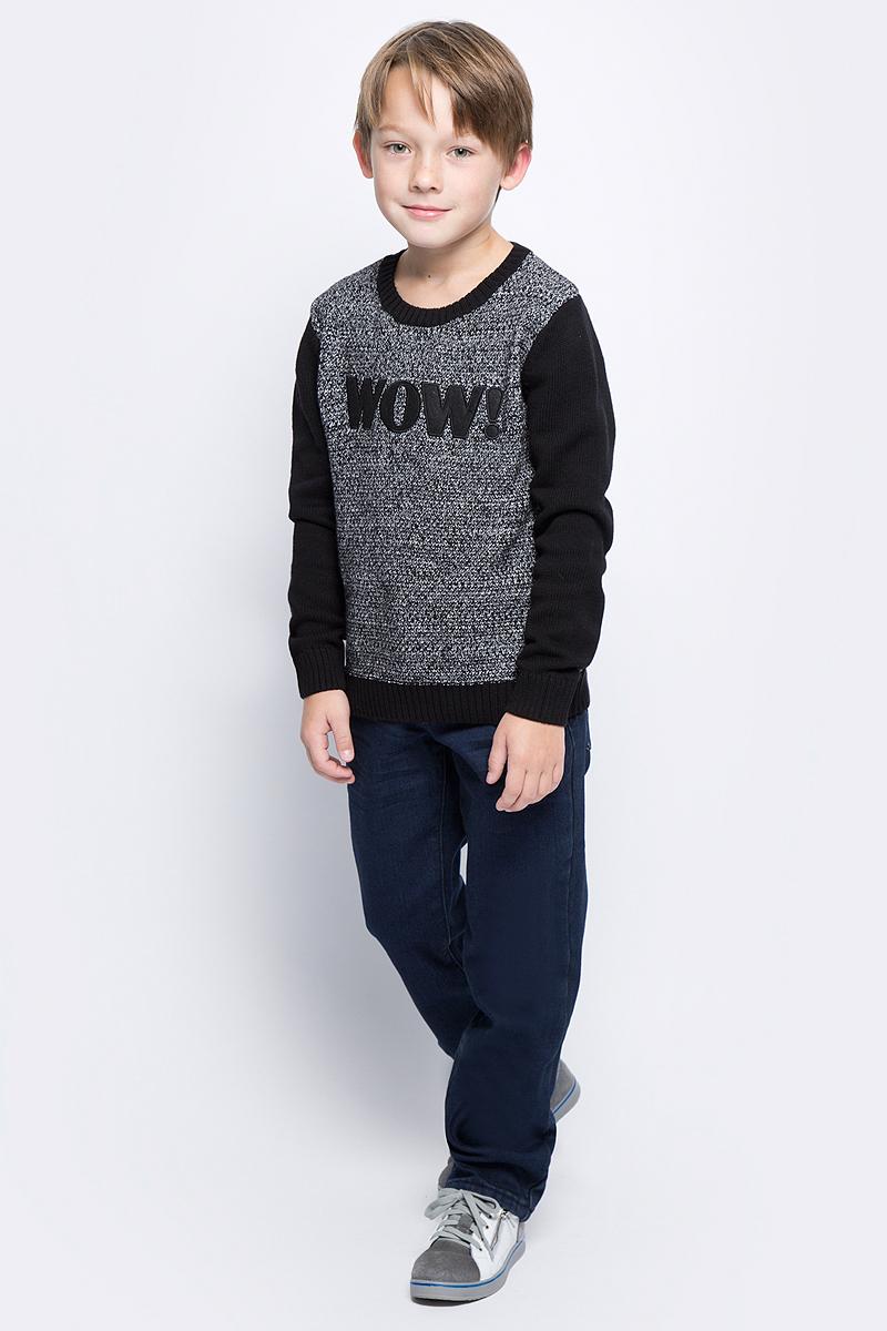Брюки для мальчика Sela, цвет: темно-синий джинс. PJ-835/025-7442. Размер 152, 12 летPJ-835/025-7442