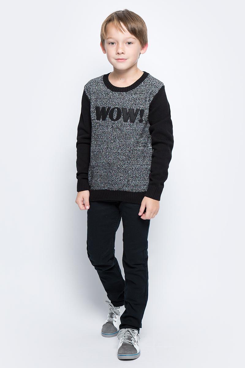Джемпер для мальчика Sela, цвет: черный. JR-814/291-7472. Размер 122, 7 летJR-814/291-7472