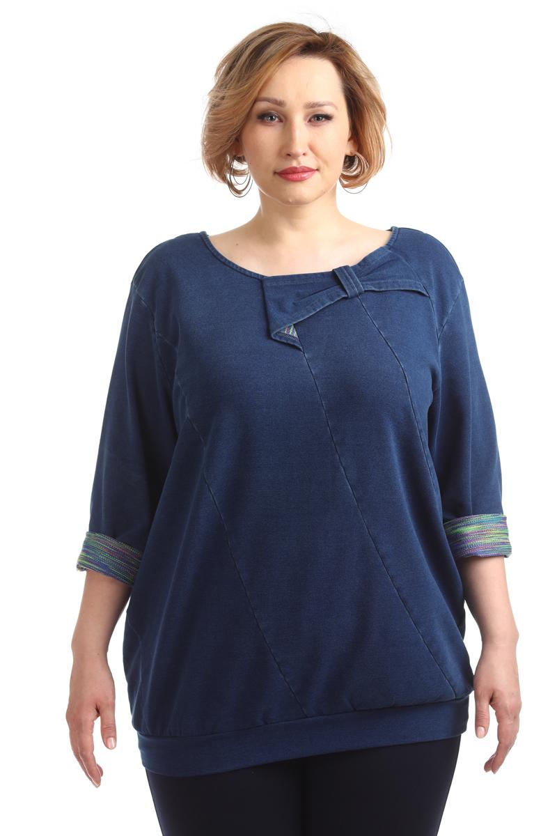 Блузка женская Averi, цвет: синий. 1386_032. Размер 64 (68) блузка женская averi цвет зеленый 1430 размер 64 68