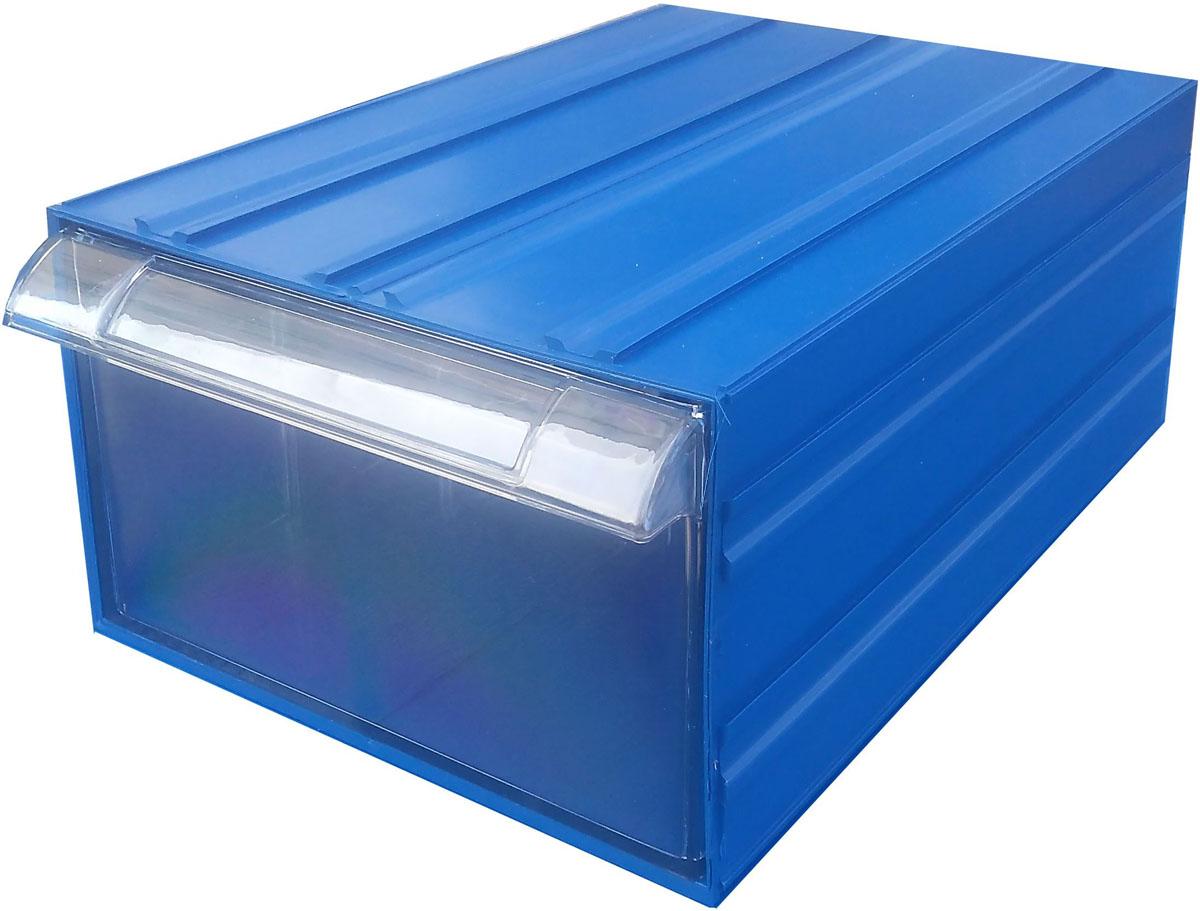 Пластиковый короб С-510 синий/прозрачный (260х364х150), 10 лС-510 синий/прозрачныйСкладские контейнеры (короба), изготовлены из высококачественного полистирола, которые состоят из 2 частей – наружная (синяя) и внутренняя (прозрачная). Наружная часть короба имеет специальные соединительные пазы, что позволяет с легкостью скрепить короба между собой и собрать монолитную конструкцию.