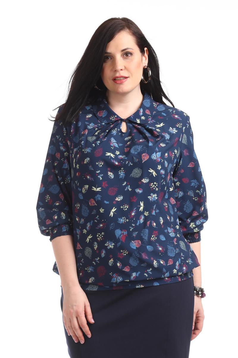 Блузка женская Averi, цвет: темно-синий. 1360_625. Размер 64 (68) блузка женская averi цвет голубой 1440 размер 50 52