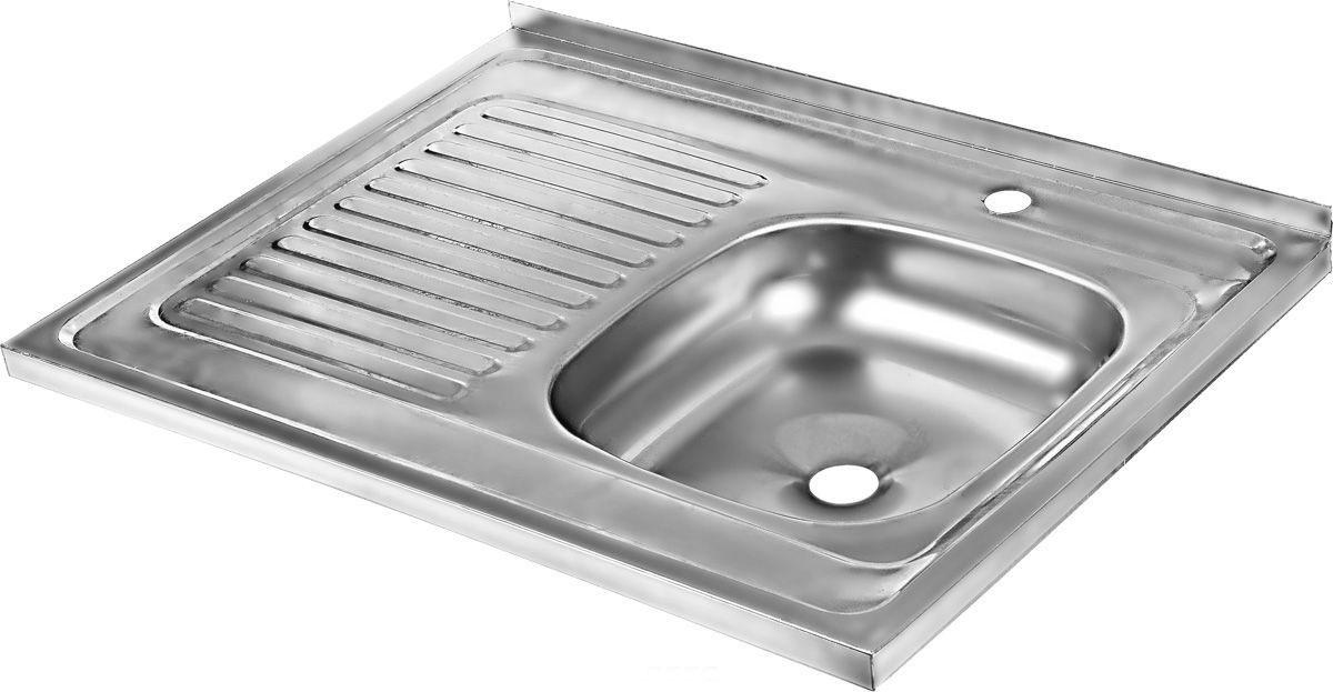 Мойка накладная Betanox, с левым крылом, 80 х 60 см80502Накладная мойка Betanox выполнена из высококачественной нержавеющей стали. Изделие оснащено левым крылом, на котором можно разместить посуду, чтобы с нее стекала вода.Сифон и крепеж не входят в комплект.Толщина стали: 0,6 мм.
