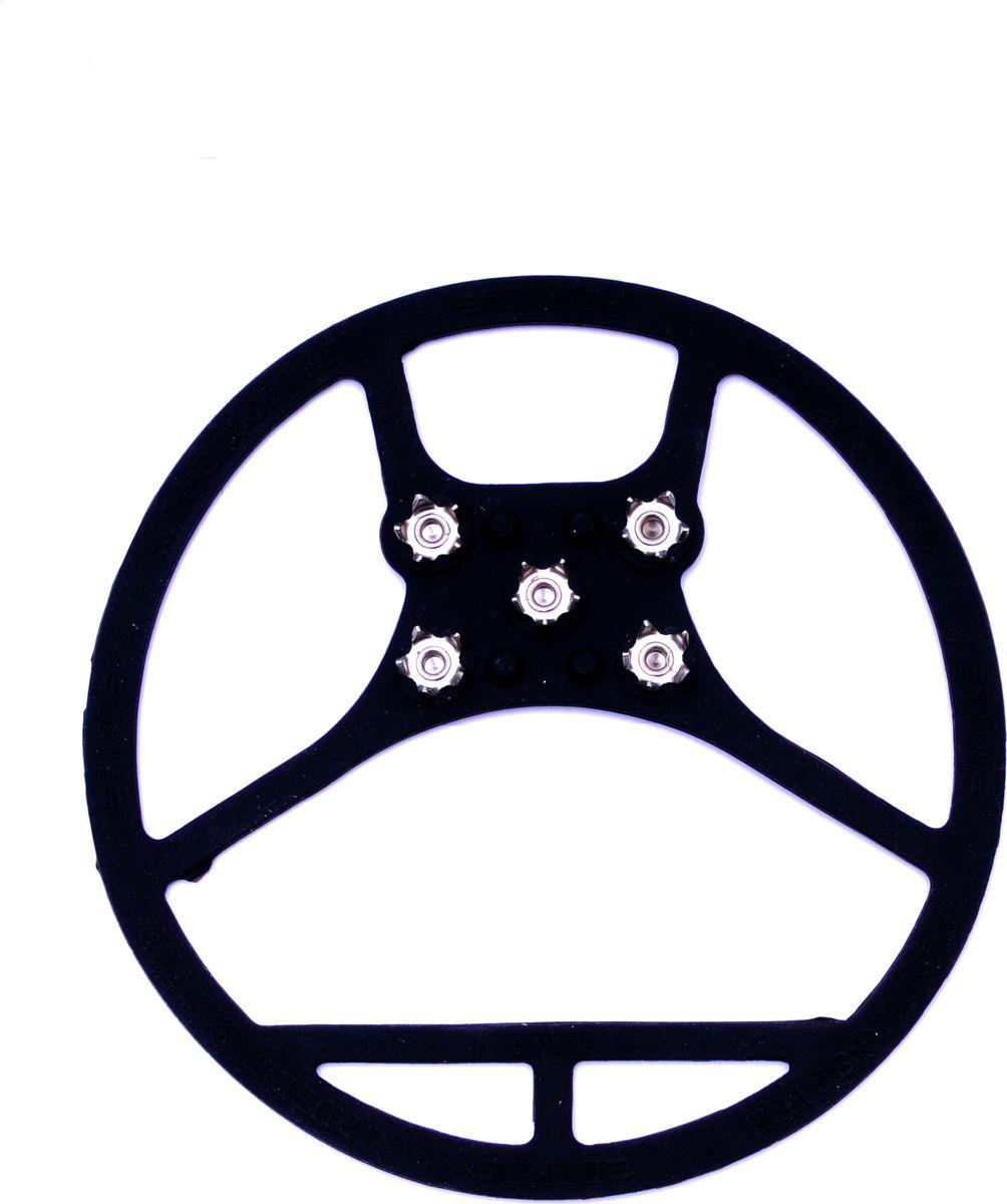 Ледоступы Практика Здоровья, цвет: черный. ANPKR5. Размер A8 (39/46)ANPKR5На подошве 5 металлических шипов длиной по 5 мм. Антигололед имеет круглую форму, надевается на пятку и на носок
