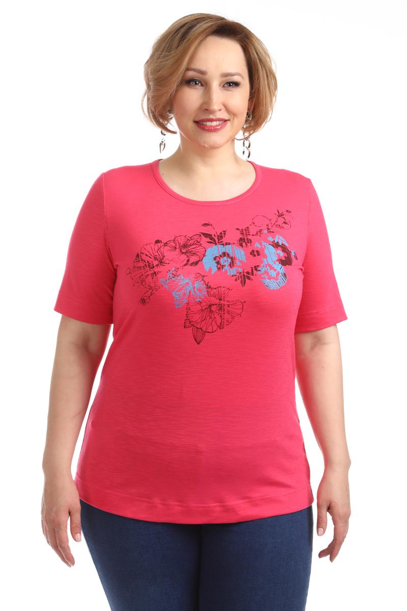 Блузка женская Averi, цвет: фуксия. 1376_052. Размер 64 (68) блузка женская averi цвет зеленый 1430 размер 64 68