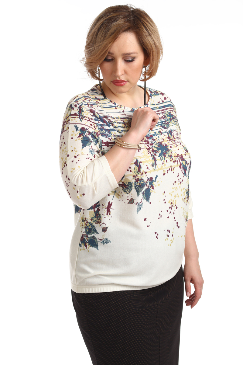 Блузка женская Averi, цвет: экрю. 1366_607. Размер 64 (68) блузка женская averi цвет зеленый 1430 размер 64 68