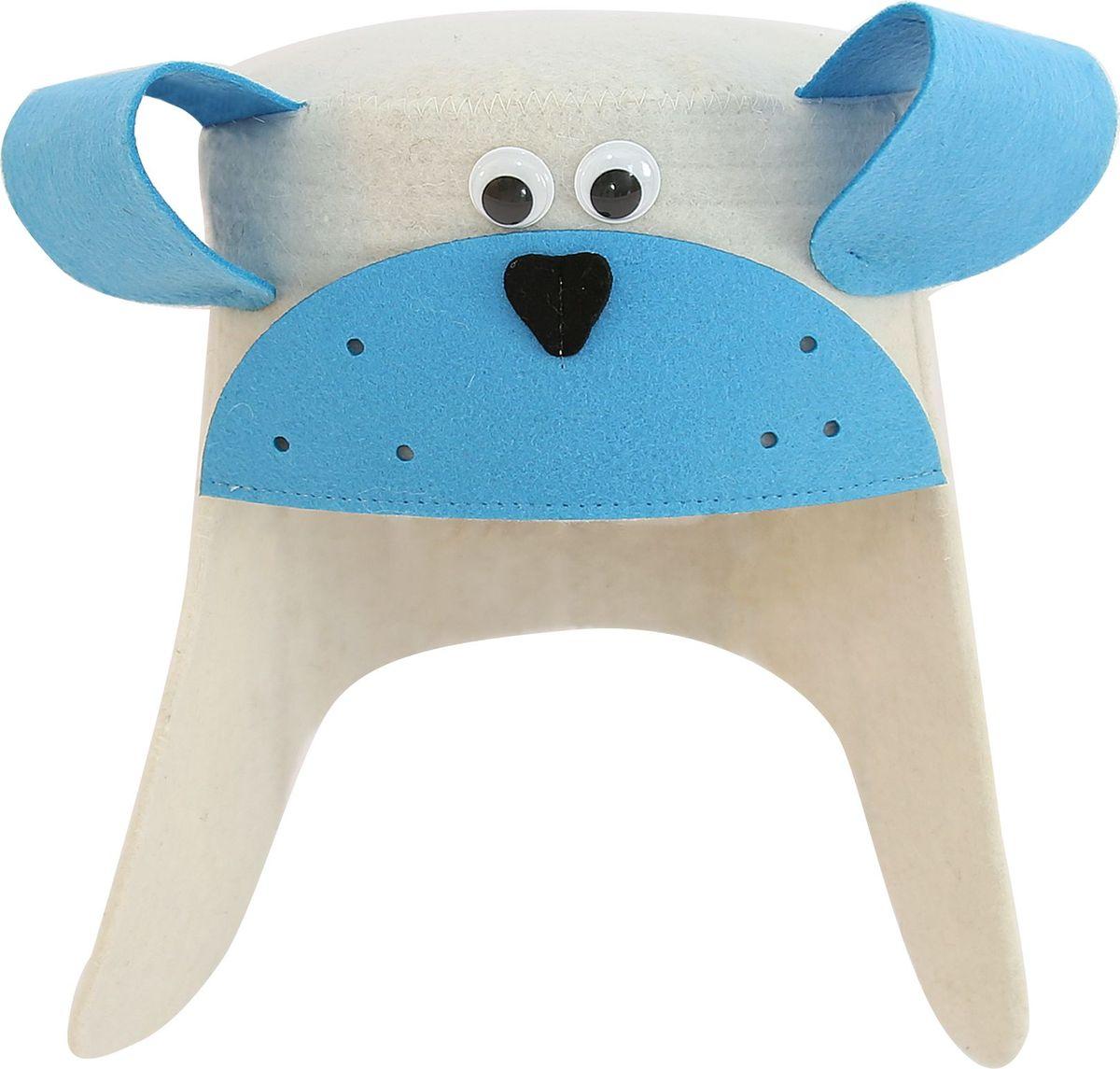 Шапка банная Главбаня Дружок-снежокА3701Банная шапка Главбаня Дружок-снежок изготовлена из плотного серого войлока и выполнена в оригинальном дизайне. Войлок - натуральный материал, выполненный из овечьей шерсти - защитит от перегрева.Шапка оснащена удобной петлей для подвешивания. Размеры: 29 х 35 см.
