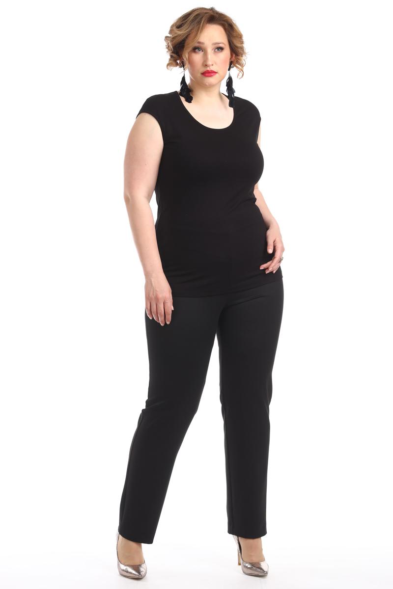 Брюки женские Averi, цвет: черный. 1303_001. Размер 62 (66)1303_001Зауженные к низу брюки изготовлены из костюмной ткани с добавлением эластана, подойдут любой женщине, которая любит свободу и комфорт. Спереди кокетка, декоративные карманы, застежка на молнию и пуговицы. По поясу спинки проложена эластичная тесьма, которая создает удобную посадку.