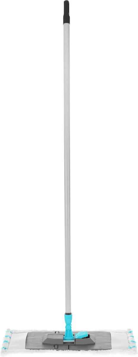Швабра Эргопак, универсальная, цвет: серый, голубой, длина 110 смС-3024/5Рб_голубой, клубникаУниверсальная плоская швабра Эргопак отлично подходит для мытья всех типов напольных поверхностей: паркет, ламинат, линолеум, кафельная плитка. Материалы насадки - полиэстер и полиакрилонитрил, которые обладают высокой износостойкостью, не царапают поверхности и отлично впитывают влагу. Специальная конструкция поворотного соединения позволяет очищать труднодоступные места. Благодаря складному держателю, можно легко заменить чистящие насадки.Закручивающаяся рукоятка может отсоединяться от насадки.Швабра подходит для влажного и сухого использования. Длина ручки: 110 см. Размер насадки: 45 х 15 см.