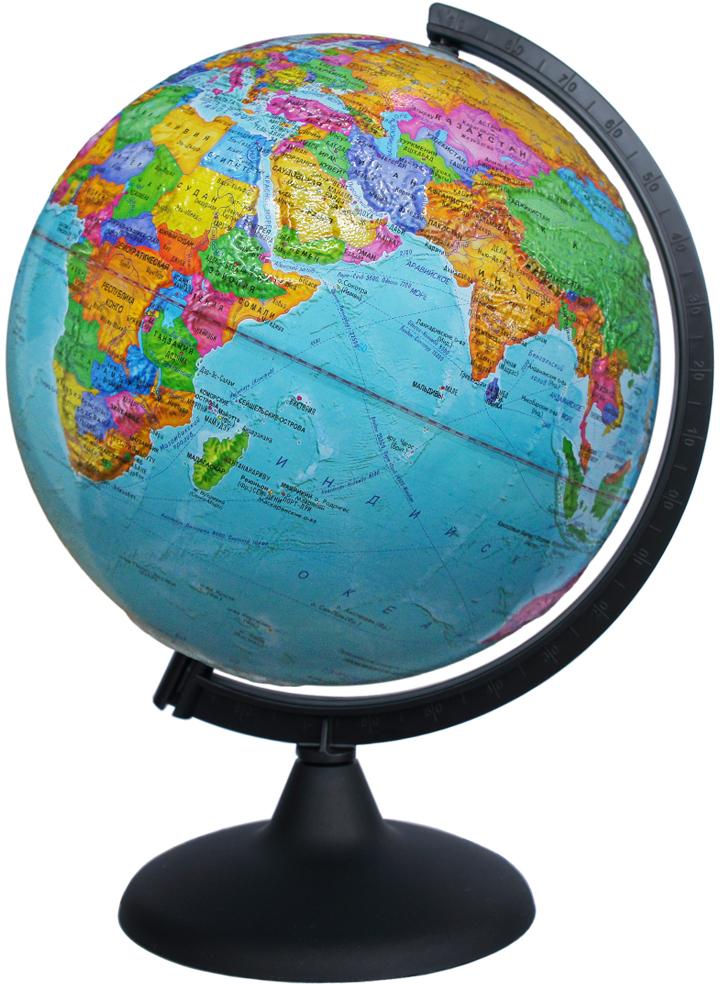 Глобусный мир Глобус с политической картой мира рельефный диаметр 25 см