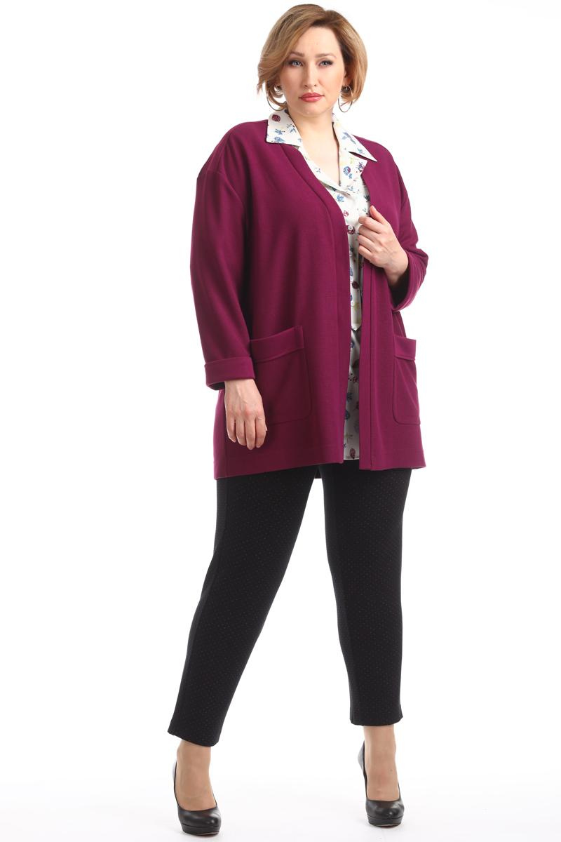 Кардиган женский Averi, цвет: темно-малиновый. 1334_553. Размер 60 (64) женский кардиган 013a56