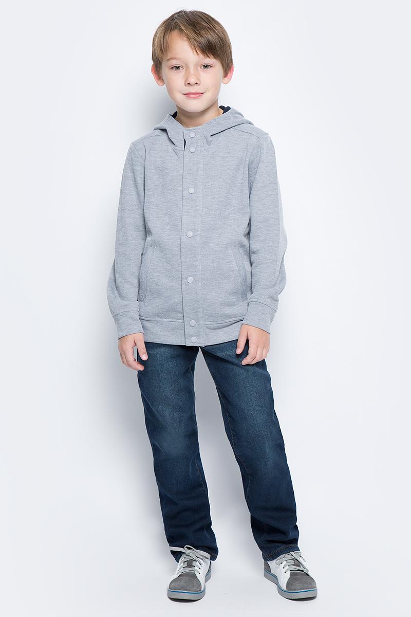 Джинсы для мальчика Sela, цвет: синий джинс. PJ-835/027-7442. Размер 140, 10 летPJ-835/027-7442Утепленные джинсы для мальчика от Sela выполнены из эластичного хлопка на флисовой подкладке. Модель прямого кроя в талии застегивается на пуговицу, имеются шлевки для ремня и ширинка на застежке-молнии. Джинсы имеют классический пятикарманный крой и оформлены перманентными складками и потертостями.