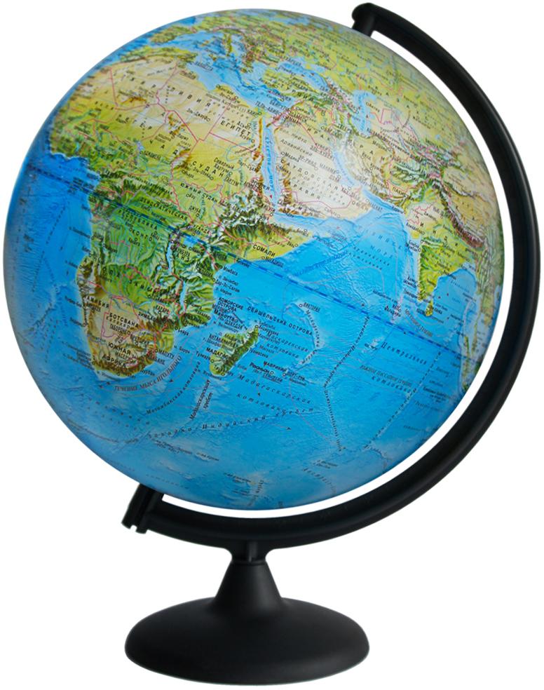 Глобусный мир Глобус ландшафтный диаметр 32 см10241Ландшафтный глобус Глобусный мир, изготовленный из высококачественного прочного пластика.Данная модель предназначена для ознакомления с особенностями ландшафта нашей планеты. Помимо этого ландшафтный глобус обладает приятной цветовой гаммой. Глобус дает представление о местоположении материков и океанов, а также можно увидеть крупнейшие населенные пункты, столицы государств, границы полярных владений Российской Федерации. Названия стран на глобусе приведены на русском языке.Настольный ландшафтный глобус Глобусный мир станет оригинальным украшением рабочего стола или вашего кабинета. Это изысканная вещь для стильного интерьера, которая станет прекрасным подарком для современного преуспевающего человека, следующего последним тенденциям моды и стремящегося к элегантности и комфорту в каждой детали.Масштаб: 1:60 000 000.