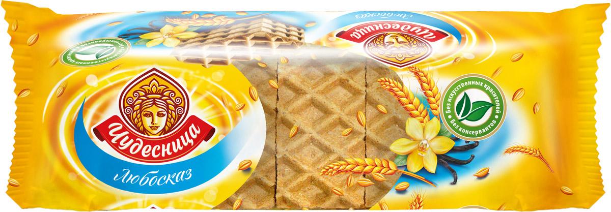 Конфэшн Любосказ вафли, 215 г4601614014344Вафли Любосказ от Кондитерского дома Конфешн имеют аппетитно хрустящий и одновременно необычайно нежный вафельный лист с крупной насечкой, изготовленный из муки только высшего сорта. Новый оригинальный вкус попкорна добавляет в знакомый и любимый покупателями продукт приятную изюминку. Чтобы передать теплоту и любовь, с которой готовится Любосказ, разработали специальный дизайн, выполненный в исконно русских мотивах. Стильное сочетание двух ярких и чистых цветов — красного и белого — не позволят продукту потеряться на полке, а незапечатанная область на пленке выполняет роль окна, через которое можно увидеть сами вафли и убедиться в их качестве.Уважаемые клиенты! Обращаем ваше внимание на то, что упаковка может иметь несколько видов дизайна. Поставка осуществляется в зависимости от наличия на складе.