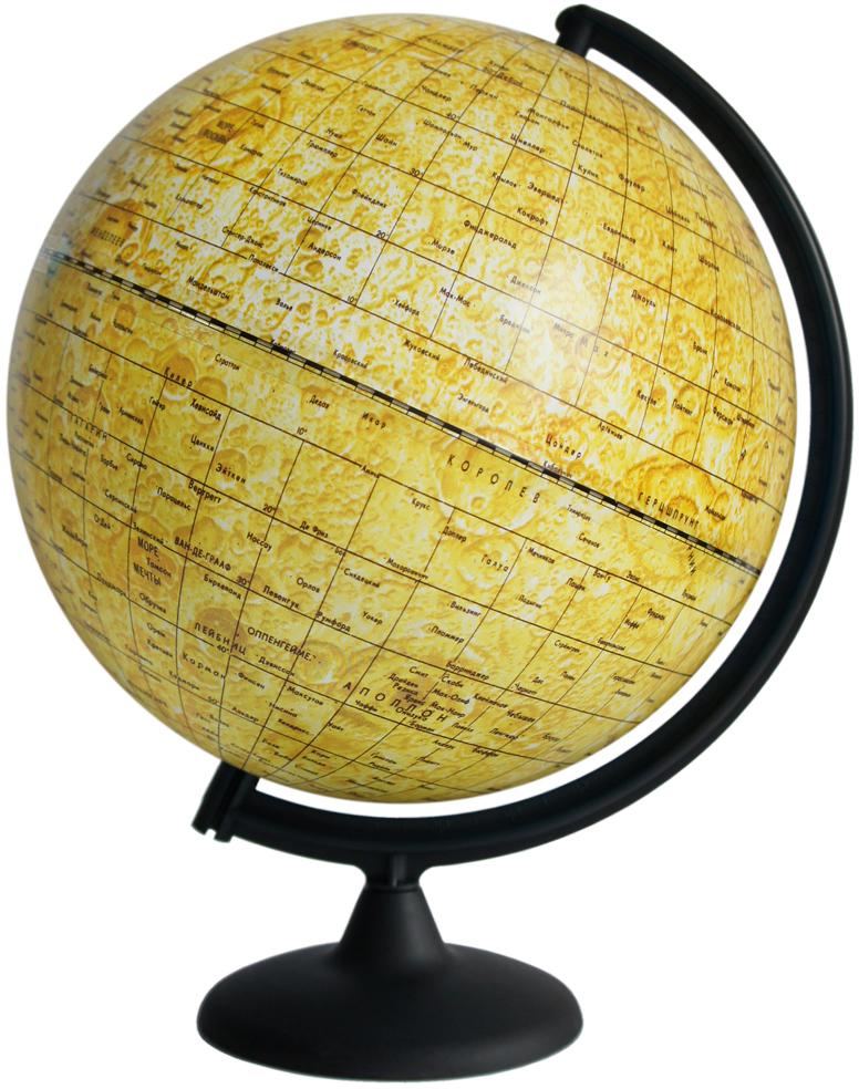 Глобусный мир Глобус Луны диаметр 32 см 1007910079Глобус Луны Глобусный мир изготовлен из высококачественного и прочного пластика.Данная модель предназначена для ознакомления с географией лунной поверхности. На глобусе указаны названия лунных морей, крупных и средних кратеров, возвышенностей, места посадки космических аппаратов. Такой глобус станет прекрасным подарком и учебным материалом для дальнейшего изучения астрономии. Изделие расположено на пластиковой подставке. Настольный глобус Луны Глобусный мир станет оригинальным украшением рабочего стола или вашего кабинета. Это изысканная вещь для стильного интерьера, которая станет прекрасным подарком для современного преуспевающего человека, следующего последним тенденциям моды и стремящегося к элегантности и комфорту в каждой детали.Масштаб: 1:40 000 000.