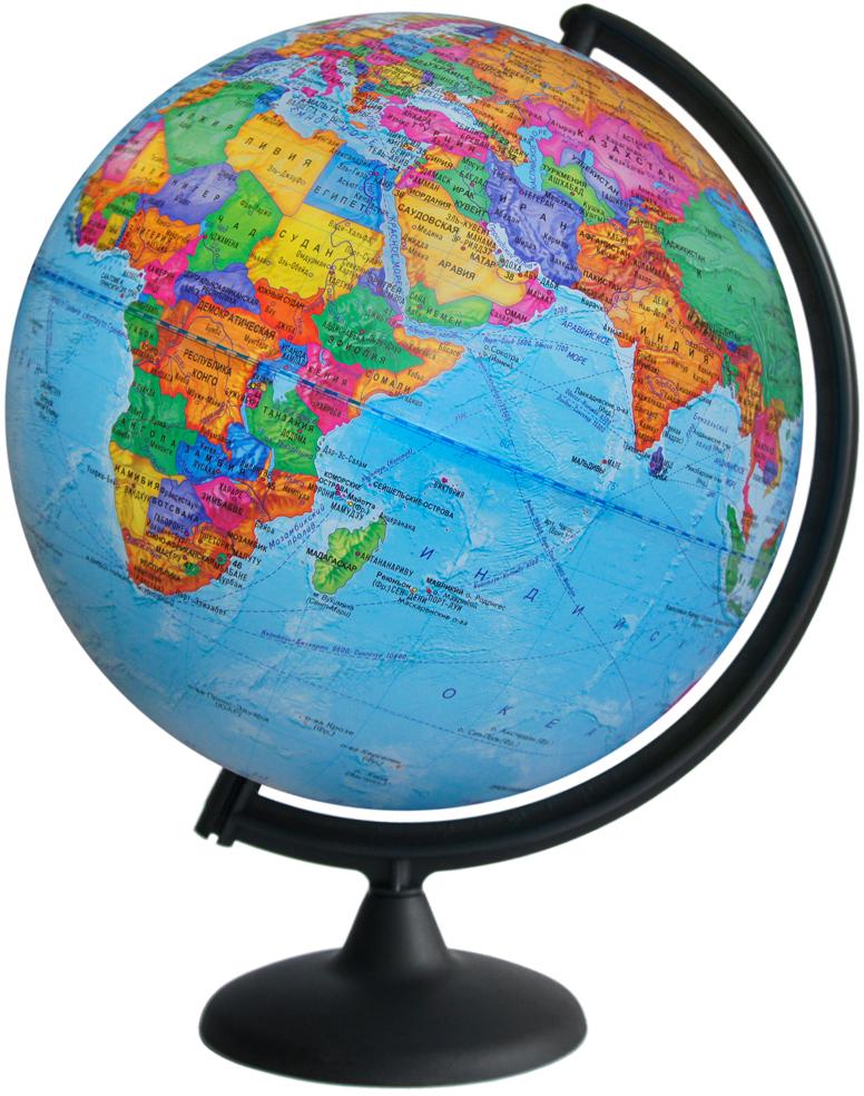 Глобусный мир Глобус с политической картой мира диаметр 32 см на подставке