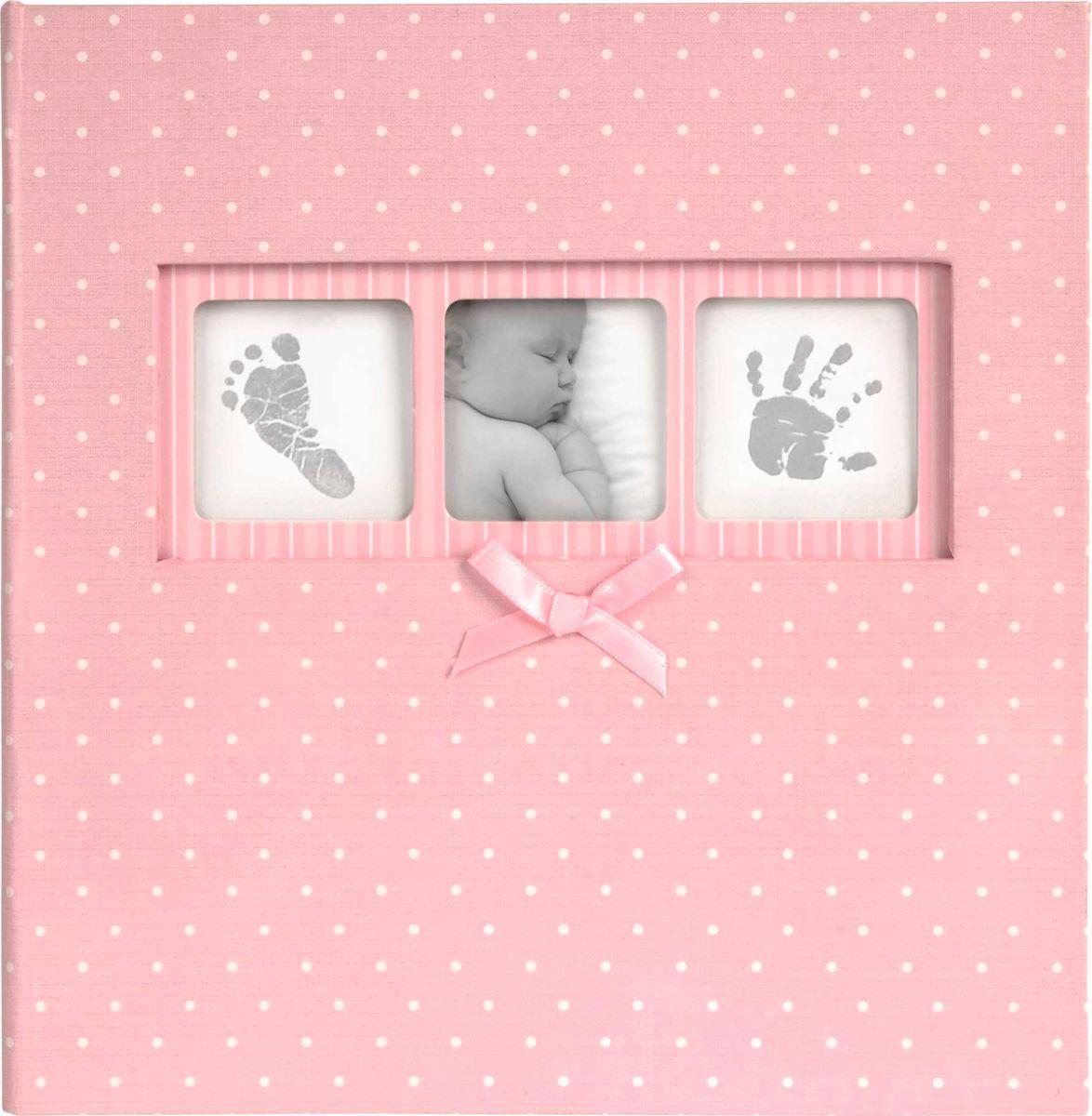 Фотоальбом Innova Baby Polka Dot Pink Memo, цвет: розовый, 200 фотографий, 10 x 15 см фотоальбом platinum винтаж 2 300 фотографий 10 х 15 см
