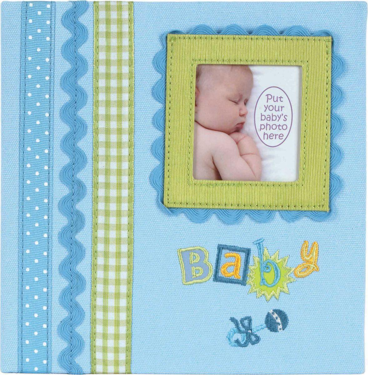 Фотоальбом Innova Baby Memories Blue Memo, цвет: голубой, 180 фотографий, 10 x 15 см фотоальбом platinum винтаж 2 300 фотографий 10 х 15 см