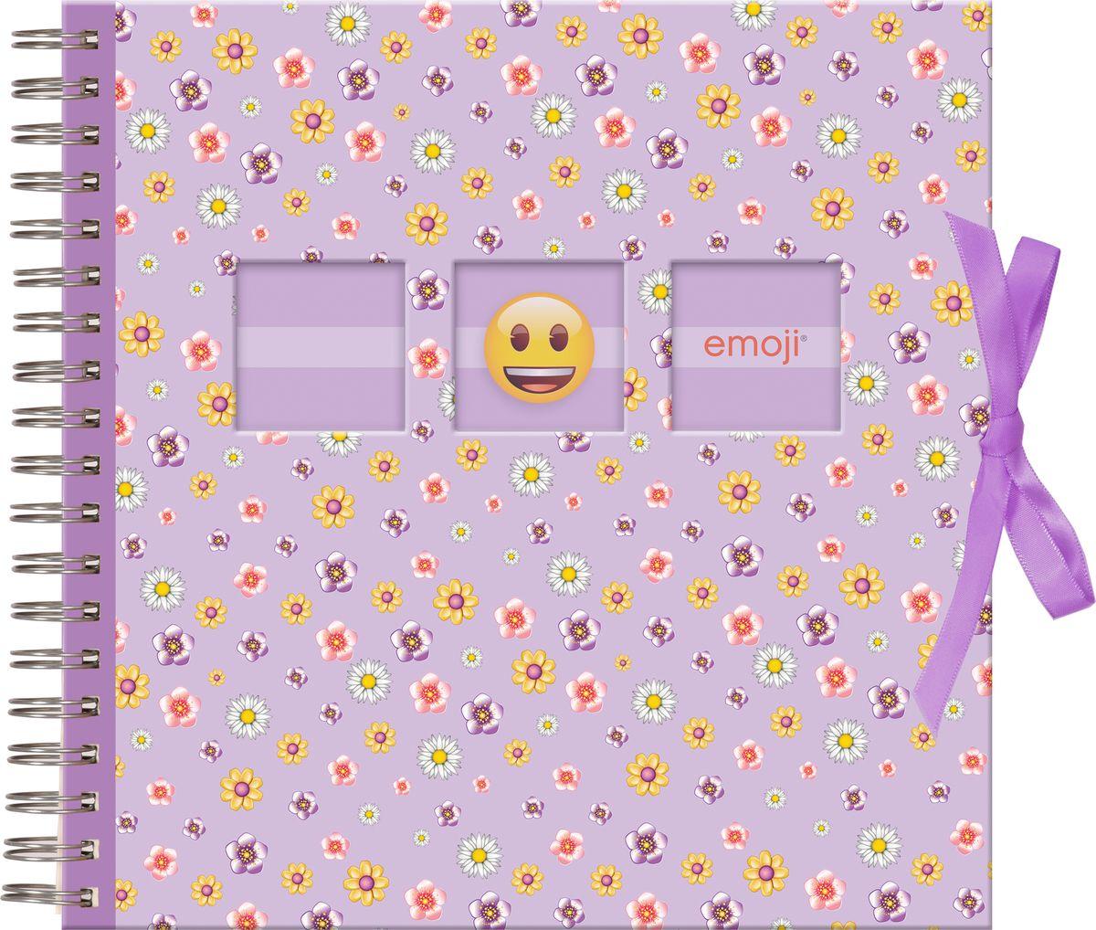 Фотоальбом Innova Emoji Spiral Bound Floral, цвет: фиолетовый, 25 х 25 смQ1607999Фотоальбом Innova имеет обложку из плотного картона. Альбом из 25 листов рассчитан на фотографии форматом 25 х 25 см. Страницы изготовлены из бумаги и пластика, они закреплены на спираль.. Дизайнфотоальбомапосвящен любимым смайликам Emoji.Фотоальбом являетсяуниверсальным подарком к любому празднику.Родным, близким и просто знакомым будетприятно помещать фотографии в этот альбом.