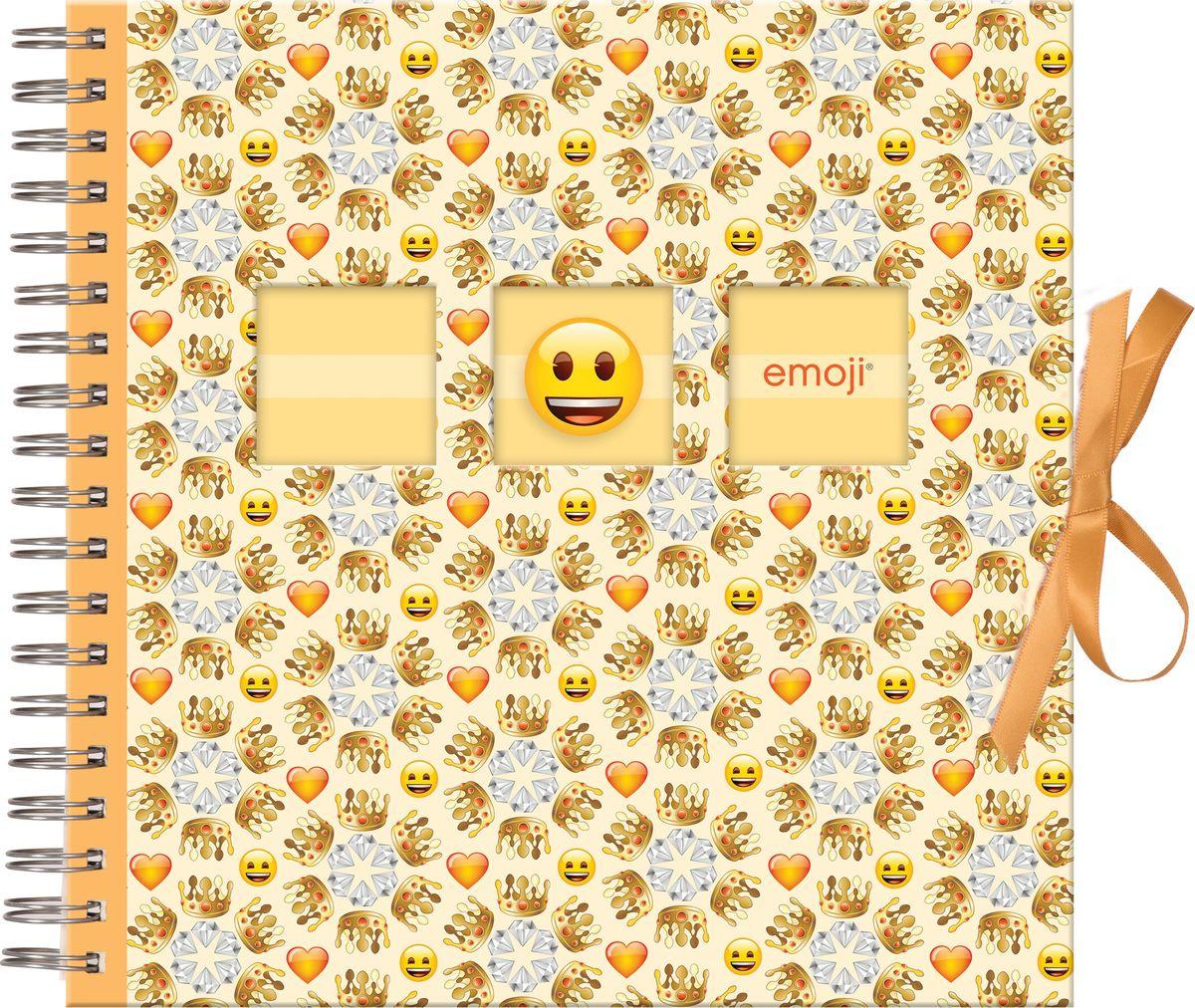 Фотоальбом Innova Emoji Spiral Bound Crowns, 25 х 25 см фотоальбом 6171