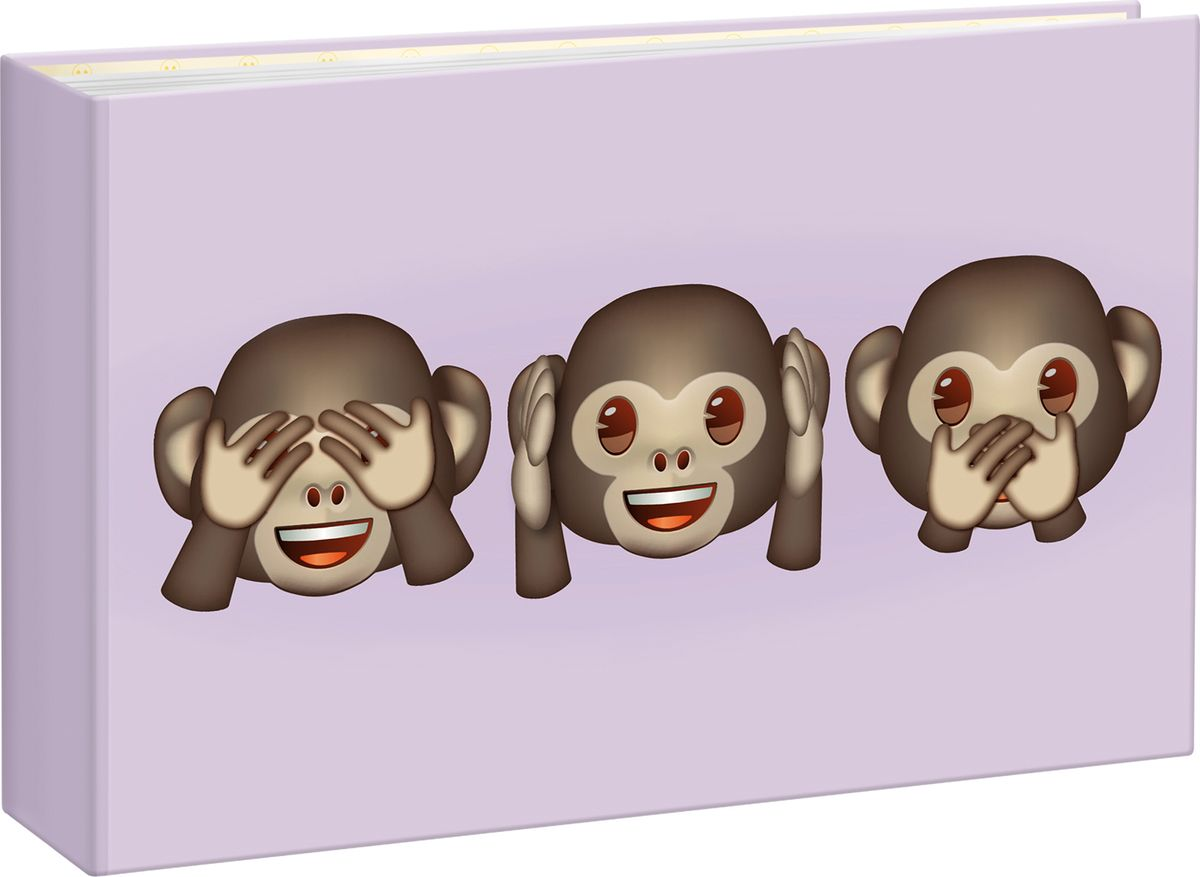 Фотоальбом Innova Emoji Mini Album Monkeys, 36 фотографий, 10 x 15 см фотоальбом 6171