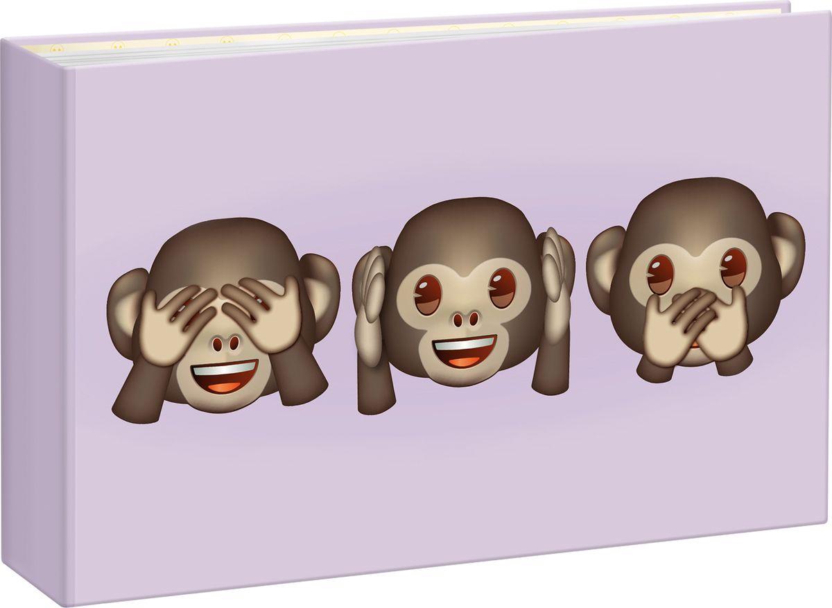 Фотоальбом Innova Emoji Mini Album Monkeys, 36 фотографий, 10 x 15 смQ4008011Фотоальбом Innova имеет обложку из плотного картона.Альбом рассчитан на 36 фотографий форматом 10 х 15 см. Страницы изготовлены из пластика и скреплены термосваркой. Дизайн фотоальбома посвящен любимым смайликам Emoji.Фотоальбом является универсальным подарком к любому празднику. Родным, близким и просто знакомым будет приятно помещать фотографии в этот альбом.