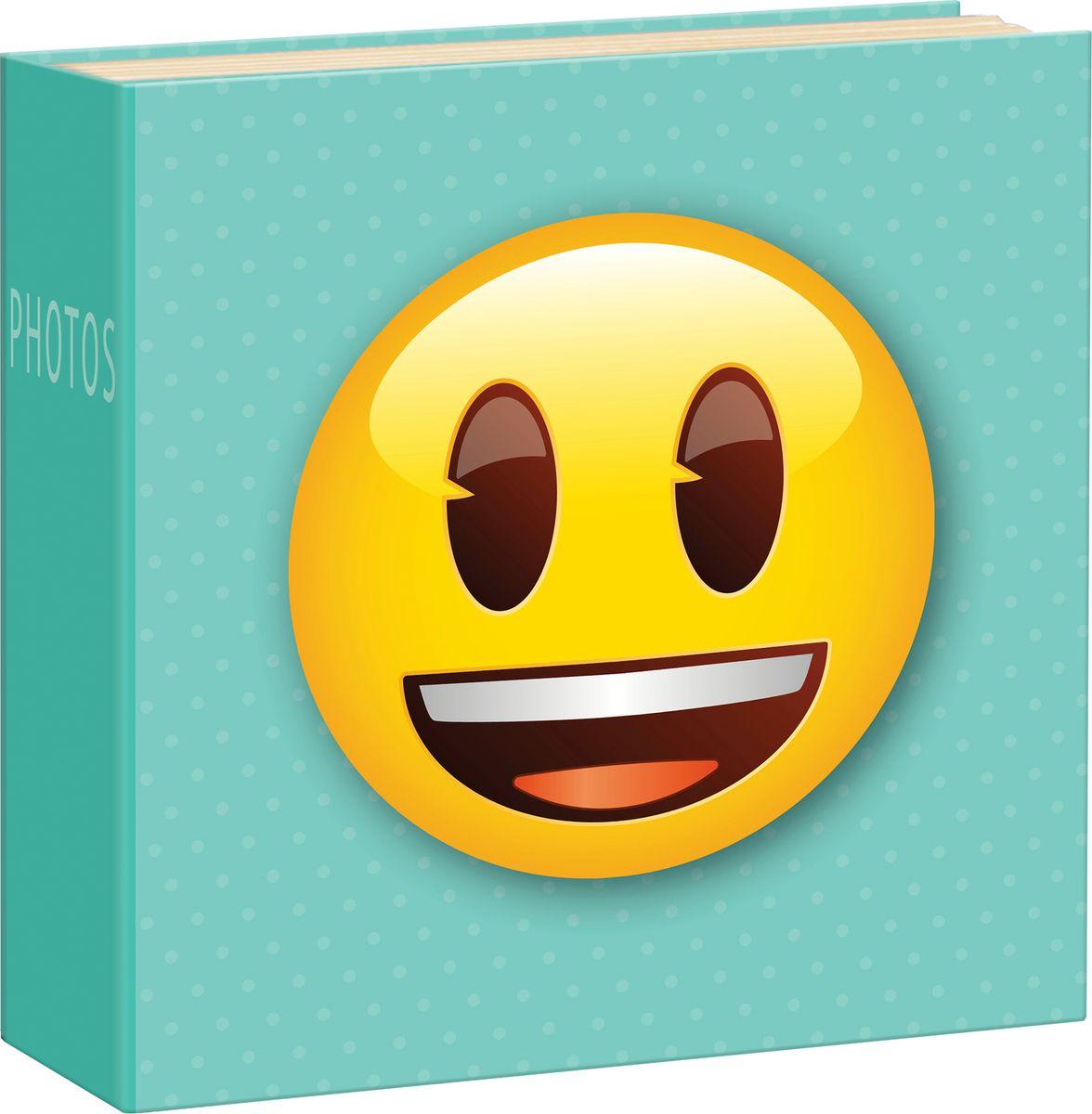 Фотоальбом Innova Emoji Slip Smiley, цвет: голубой, 200 фотографий, 10 x 15 см фотоальбом platinum классика 240 фотографий 10 x 15 см