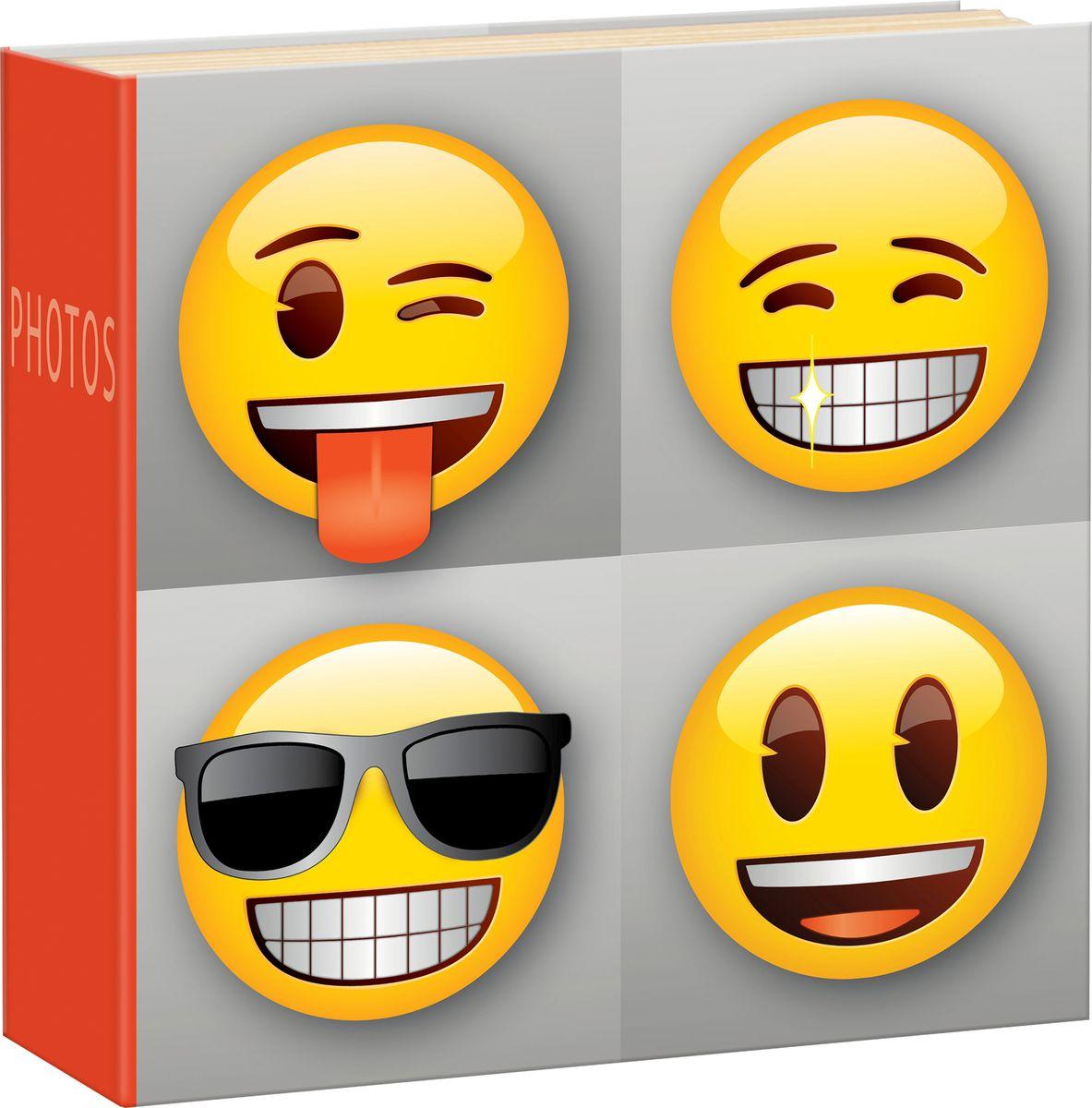 Фотоальбом Innova Emoji Slip, цвет: серый, 200 фотографий, 10 x 15 смQ4108012Фотоальбом Innova имеет обложку из плотного картона.Альбом рассчитан на 200 фотографий форматом 10 х 15 см. Страницы изготовлены из бумаги и скреплены книжным переплетом. Дизайн фотоальбома посвящен любимым смайликам Emoji.Фотоальбом является универсальным подарком к любому празднику. Родным, близким и просто знакомым будет приятно помещать фотографии в этот альбом.