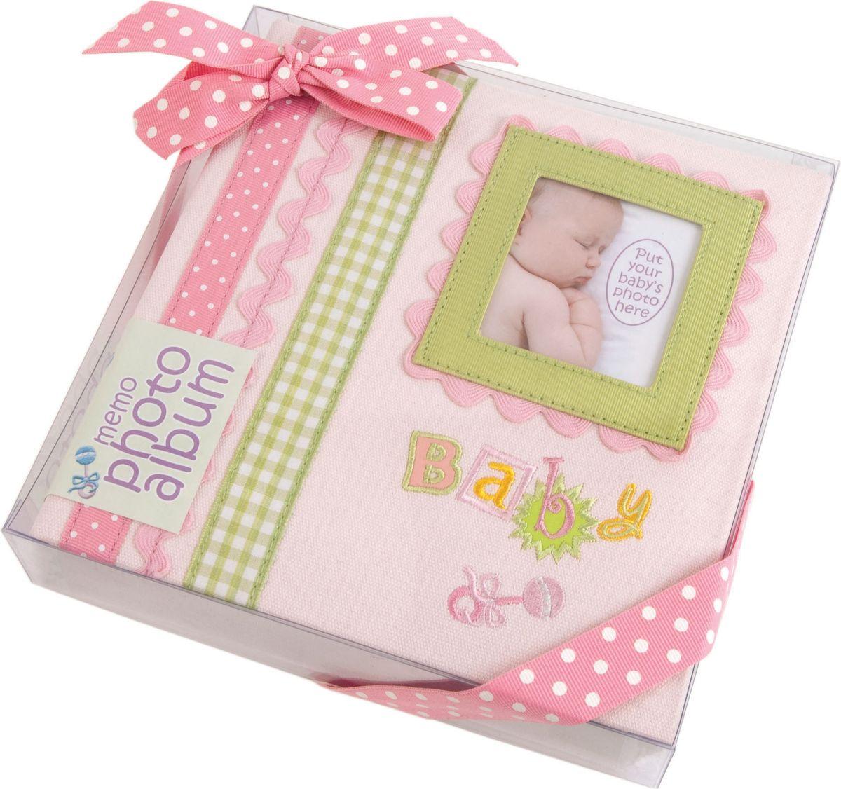 Фотоальбом Innova Baby Memories Pink Memo, цвет: розовый, 180 фотографий, 10 x 15 см фотоальбом platinum винтаж 2 300 фотографий 10 х 15 см