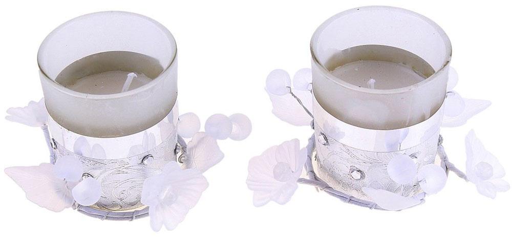 Набор декоративных свечей Sima-land Закат, цвет: серый металлик, высота 14 см. 108517108517Набор декоративных восковых свечей Sima-land Закат станет отличным презентом к любому празднику. Такие декоративные свечи – это уже готовый подарок, который не требует оформления, потому что товар представлен в индивидуальной упаковке и с дополнительным декором. В наборе 2 свечи и декор.