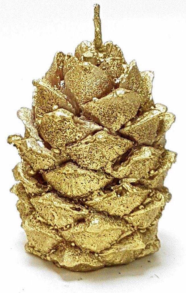 Свеча декоративная Sima-land Шишка кедровая, цвет: золотой, высота 7 смFE0204Какой новогодний стол без свечей? Вместе с мандаринами, шампанским и еловыми ветвями они создадут сказочную атмосферу, а их притягательное пламя подарит ощущение уюта и тепла. А еще это отличная идея для подарка! Свеча Sima-land оградит от невзгод и поможет во всех начинаниях в будущем году. Каждому хозяину периодически приходит мысль обновить свою квартиру, сделать ремонт, перестановку или кардинально поменять внешний вид каждой комнаты. Свеча Sima-land - привлекательная деталь, которая поможет воплотить вашу интерьерную идею, создать неповторимую атмосферу в вашем доме. Окружите себя приятными мелочами, пусть они радуют глаз и дарят гармонию. Декоративная свеча Sima-land - символ Нового года. Она несет в себе волшебство и красоту праздника. Такое украшение создаст в вашем доме атмосферу праздника, веселья и радости.