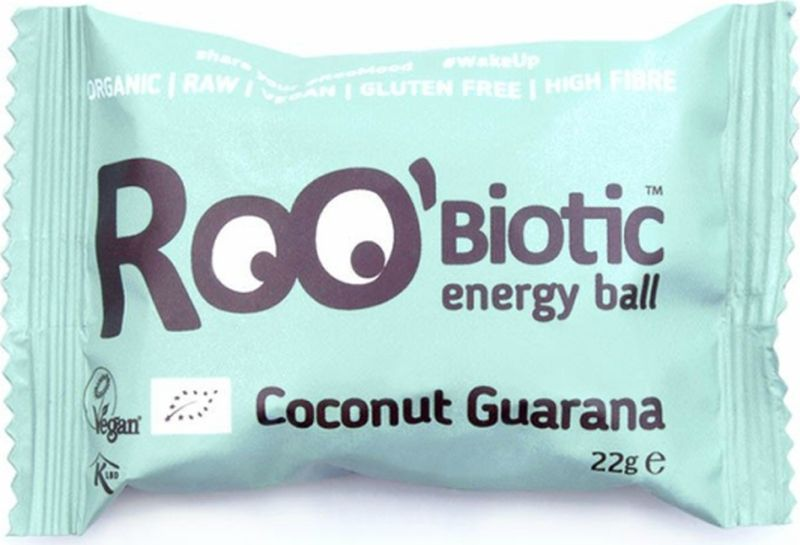 Roo'biotic Energy Ball Coconut Guarana конфета кокос и гуарана, 22 г