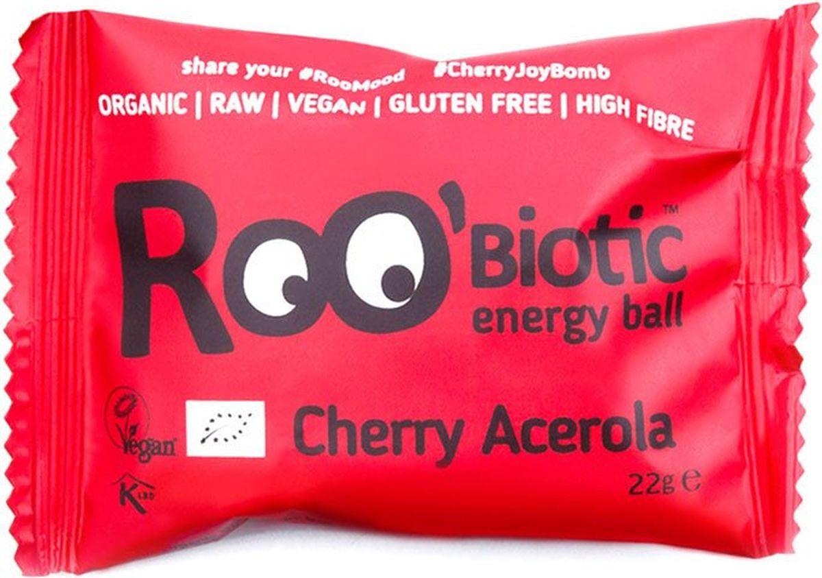 Roo'biotic Energy Ball Cherry & Acerola конфета ацерола и вишня, 22 г