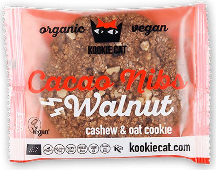 Kookie Cat грецкий орех и какао крупка, 50 г kookie cat семена чиа и лимон 50 г