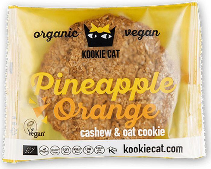 Kookie Cat печенье ананас и апельсин, 50 г kookie cat семена чиа и лимон 50 г