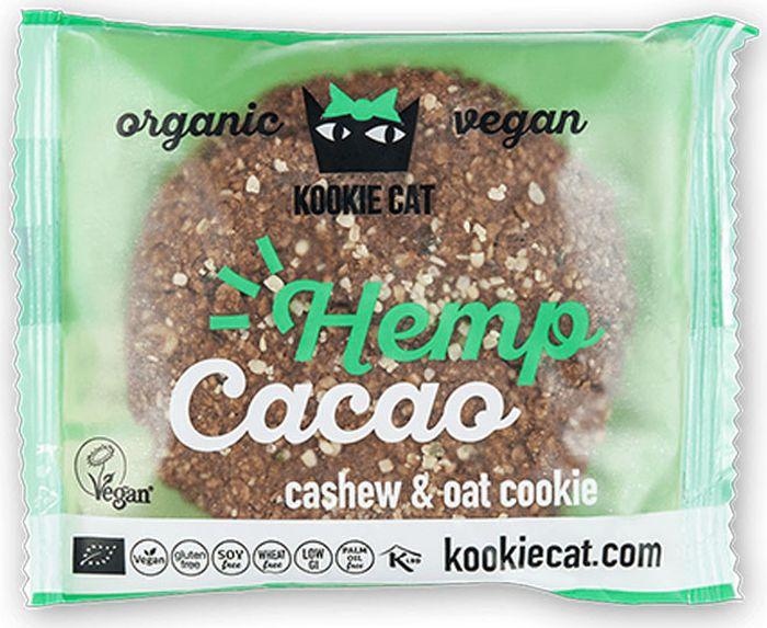 Kookie Cat конопля и какао, 50 г kookie cat семена чиа и лимон 50 г