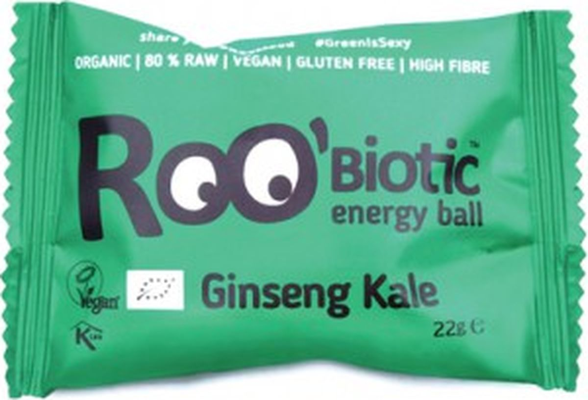 Roo'biotic Energy Ball Ginseng Kale конфета кейл и женьшень, 22 г