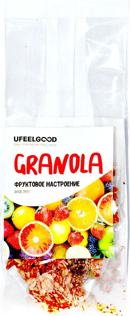 UFEELGOOD Granola фруктовое настроение антистресс, 40 г784Гранола Фруктовое настроение поднимет твое настроение и зарядит энергией на весь день. Этот полезный микс разнообразных суперфудов прекрасно подойдет в качестве перекуса.Удобно взять с собой на работу или учебу, а также на прогулку.Содержит целый комплекс витаминов и минералов, который сможет восполнить баланс в вашем организме.