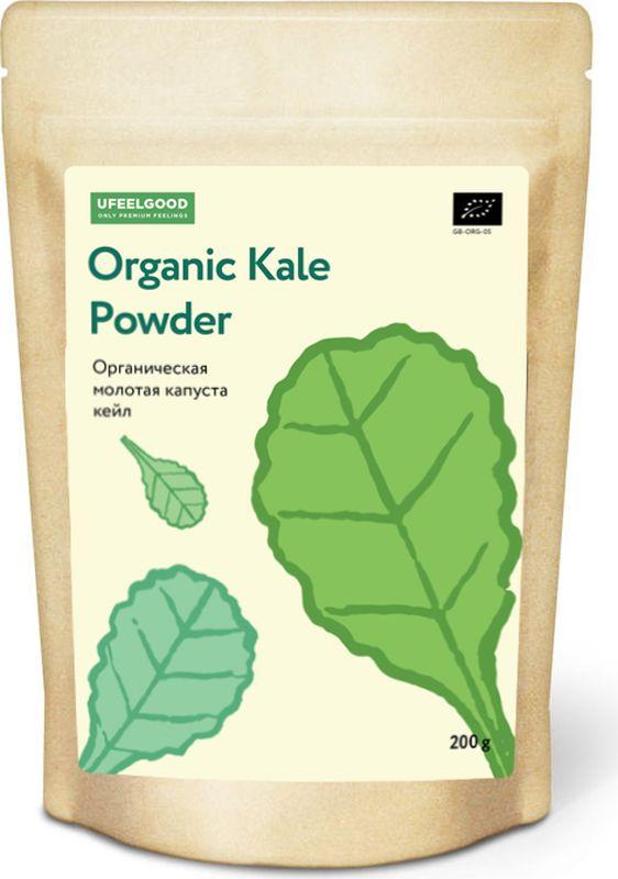 UFEELGOOD Organic Kale Powder органическая молотая капуста кейл, 200 г