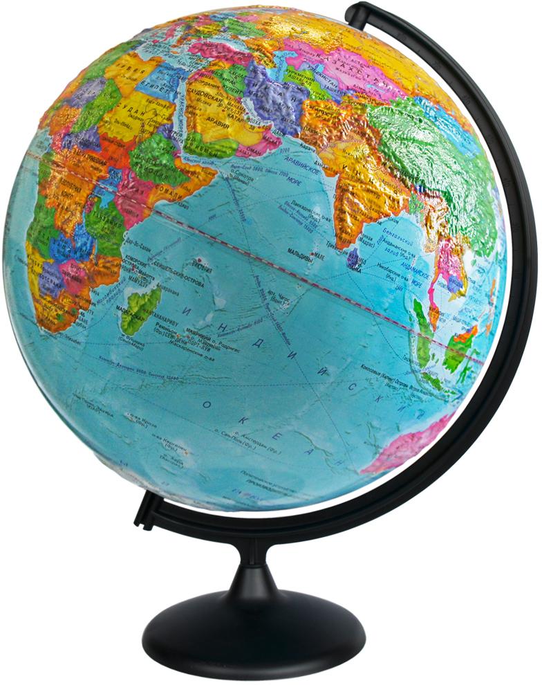 Глобусный мир Глобус с политической картой мира рельефный диаметр 42 см