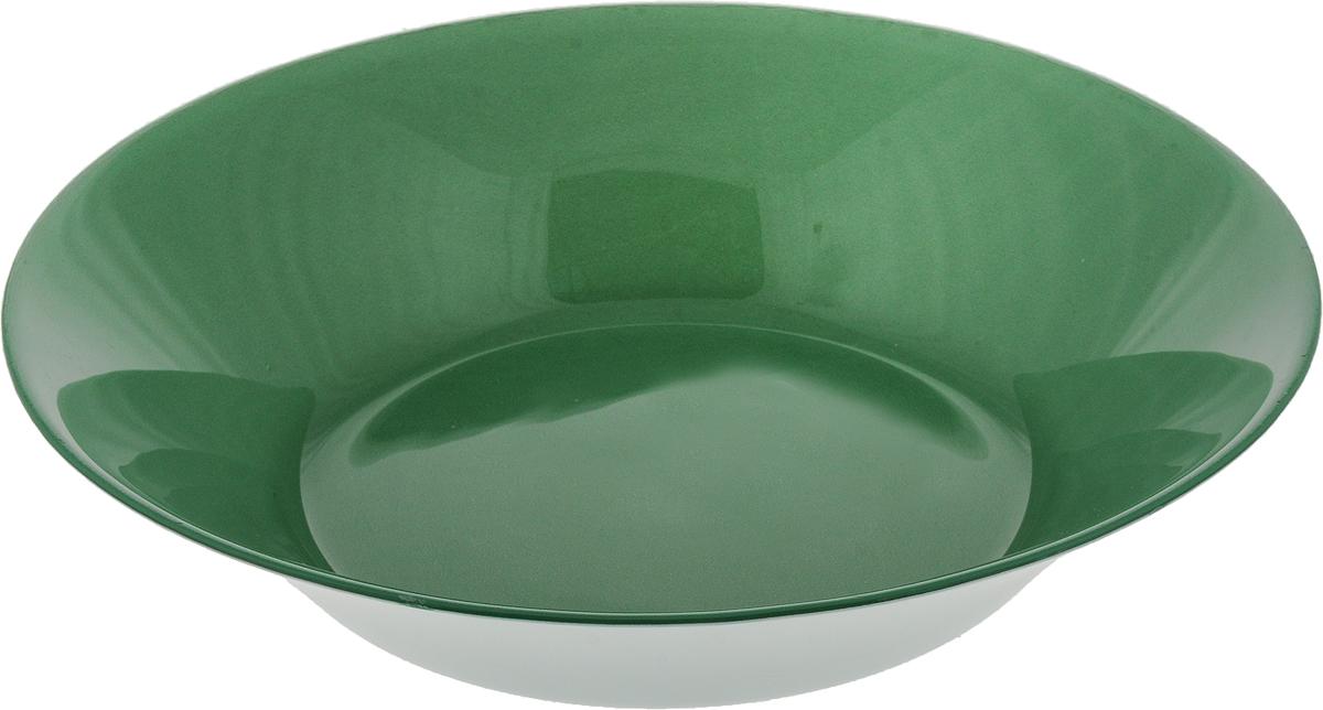 Тарелка глубокая Pasabahce Грин Сити, цвет: зеленый, диаметр 22 см