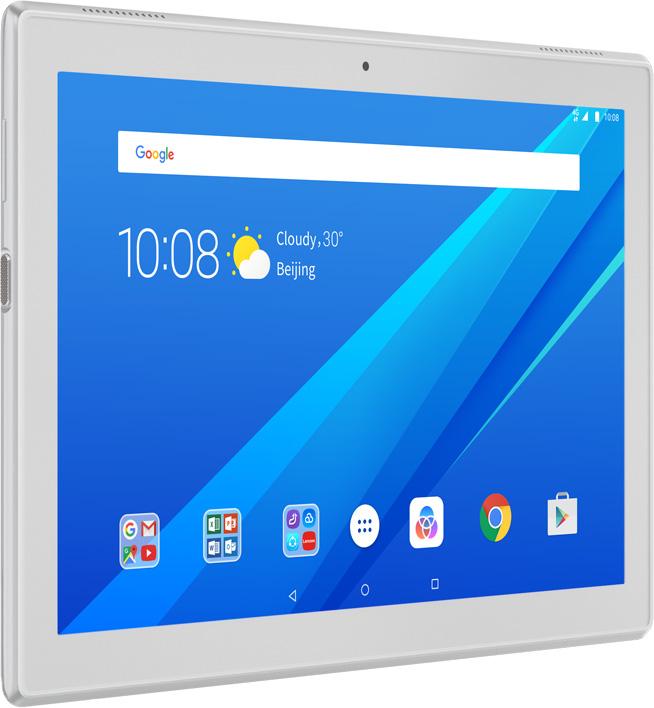 Lenovo Tab 4 10 (TB-X304L), WhiteZA2K0082RU10,1-дюймовый планшет для дружной семьи, высочайшее качество звука и графики, продолжительное время автономной работы