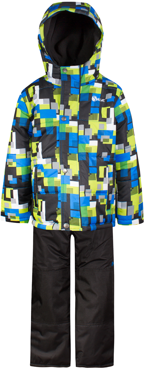 Комплект верхней одежды для мальчика Salve by Gusti, цвет: лайм. SWB 4645-ACID LIME. Размер 96SWB 4645-ACID LIMEКомплект Salve by Gusti состоит из куртки и полукимбинезона. Ткань верха куртки: Мембрана с коэффициентом водонепроницаемости 2000 мм и коэффициентом паропроницаемости 2000 г/м2, одежда ветронепродуваемая. Благодаря тонкому полиуретановому напылению изнутри не промокает даже при сильной влаге, но при этом дышит (защита от влаги не препятствует циркуляции воздуха). Плотность ткани Т190 обеспечивает высокую износостойкость. Утеплитель: Тек-Полифилл (Tech-Polyfil) - 283г/м2, силиконизированый полиэстер изготовленный по новейшим технологиям, удерживает тепло при температуре до -30 С. Очень мягкий, создающий объем для сохранения тепла, более плотный на груди и спине (283г/м2) и менее плотный на рукавах (230г/м2). Высокоэффективный, обладающий повышенной устойчивостью к сжатию (после стирки в стиральной машине изделие достаточно встряхнуть), обеспечивающий хорошую вентиляцию, обладающий прекрасным, теплоизолирующими свойствами синтетический материал. Главные преимущества Тек-Полифила – одежда более пушистая на ощупь и менее тяжелое по весу. Подкладка: Высокотехнологичный флис COOLQUICK. Специальное кручение нитей позволяет ткани максимально впитывать влагу и увеличивать испаряемость с поверхности, т.е. выпустить пар, но не пропускает влагу снаружи, что обеспечивает комфорт даже при высоких физических нагрузках. Этот материал ранее был разработан специально для спортсменов, которые испытывали сильные нагрузки во время активного движения, а теперь принес комфорт и тепло в нашу повседневную жизнь. Это особенно важно для детей, когда они гуляют на свежем воздухе, чтобы тело всегда оставалось сухим и теплым. В этой одежде им будет тепло в течение длительного времени и нет необходимости надевать теплый свитер. Ткань верха полукомбинезона: Таслан ( Taslan )- мембрана с коэффициентом водонепроницаемости 2000 мм и коэффициентом паропроницаемости 2000 г/м2, одежда ветроне