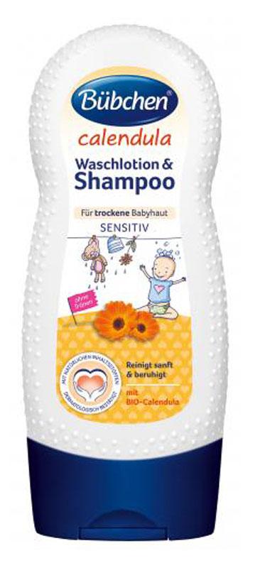 Bubchen Крем-гель для мытья волос и тела Календула, 230 мл12254265Крем-гель для мытья волос и тела Календула защищает чувствительную кожу младенцев. Содержит БИО-календулу. Натуральные ингредиенты оказывают на кожу успокаивающее и регенерирующее действие. Мягко очищает кожу, придает волосам блеск и облегчает расчесывание.Без красителей и способных вызвать аллергию ароматизаторов, рН нейтрально для кожи. Противопоказания: индивидуальная непереносимость компонентов.Рекомендуемый возраст: от 0 месяцев.Уважаемые клиенты!Обращаем ваше внимание на возможные изменения в дизайне упаковки. Качественные характеристики товара остаются неизменными. Поставка осуществляется в зависимости от наличия на складе.