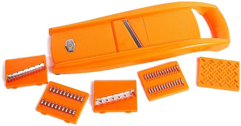 Овощерезка Libra Plast, цвет: оранжевый, 7 предметов. LP0003LP0003Превратите приготовление пищи в кулинарное искусство! С набором овощерезок это просто! Овощерезка Libra-Plast сделана из АВС пластика.Ножи из нержавеющей стали.ножи из нержавеющей стали.насадка для крупной корейской моркови - 1 шт,насадка для мелкой корейской моркови - 1 шт,насадка для картофеля фри - 1 шт, овощечистка-экономка - 1 шт.насадка для салатов - 1 шт,насадка для детского пюре - 1 шт,насадка для шинковки - 1 шт.