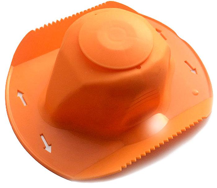 Овощедержатель Libra Plast, цвет: оранжевый. LP0016LP0016Овощедержатель Libra Plast, выполненный из высококачественного АВС пластика, позволит безопасно использовать терку, а также сэкономит время.